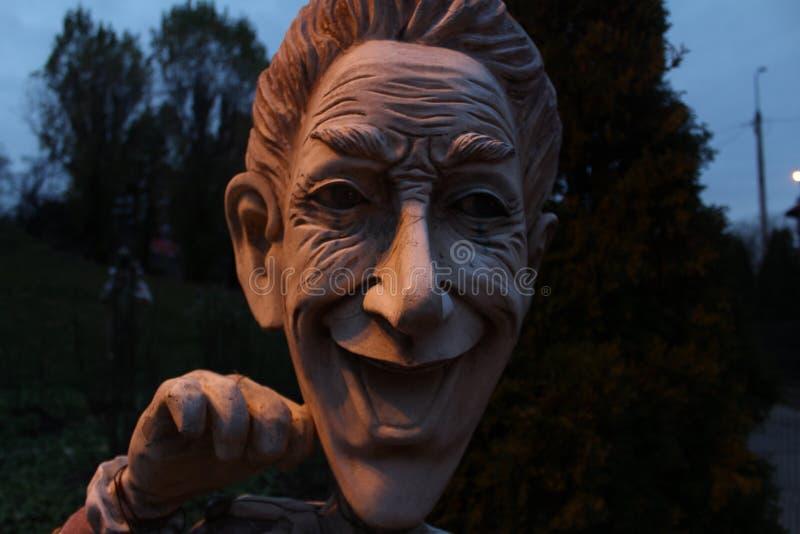 The creepy statue royalty free stock photo