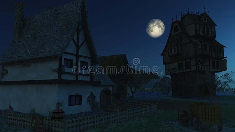 Download Creepy Town stock illustration. Image of horror, house - 28596737