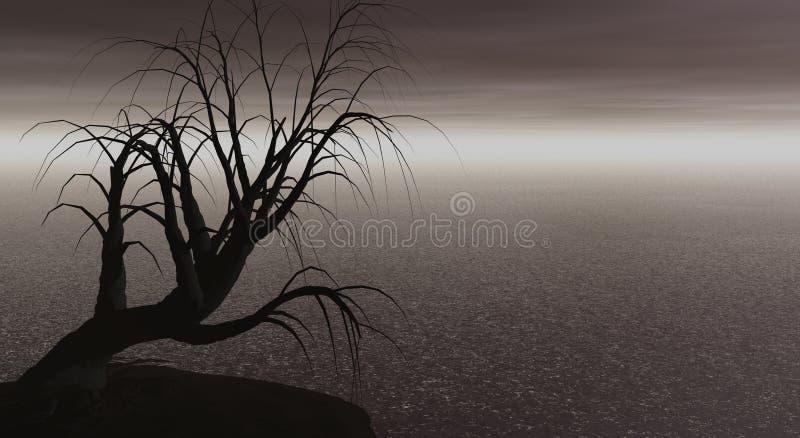 Creepy Tree Royalty Free Stock Images