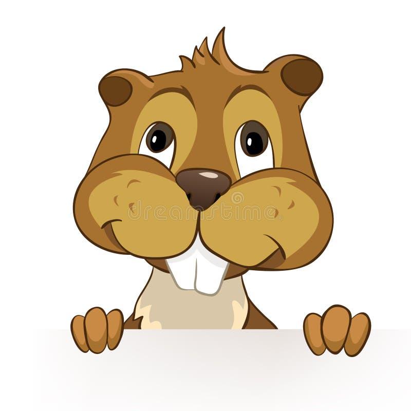 CREES del castoro illustrazione vettoriale