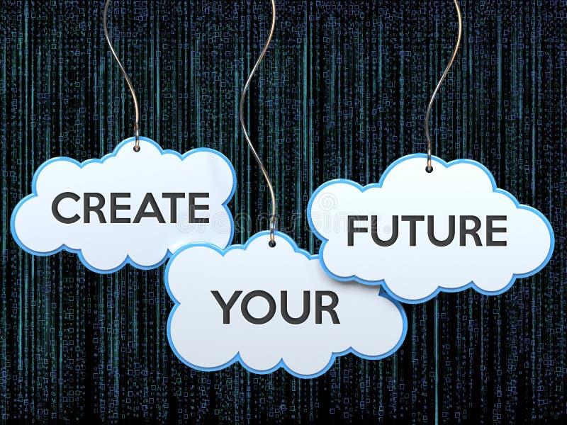 Crei il vostro futuro sull'insegna della nuvola royalty illustrazione gratis