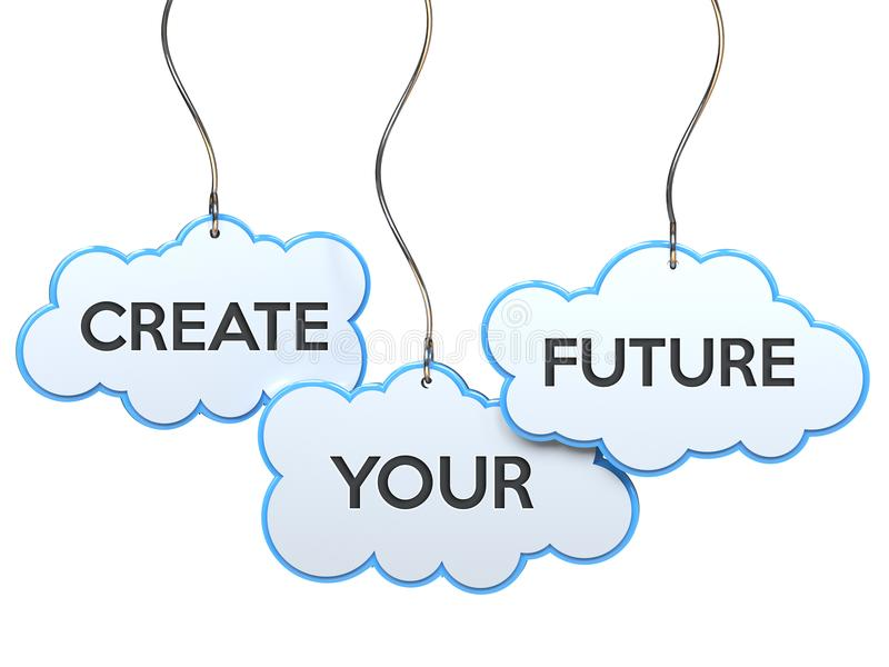 Crei il vostro futuro sull'insegna della nuvola illustrazione vettoriale