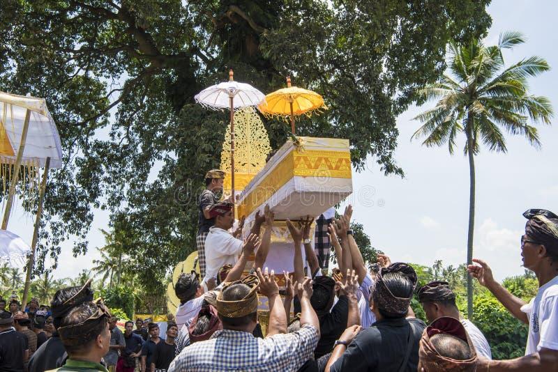 Cremação do funeral da cerimônia do Balinese fotos de stock royalty free