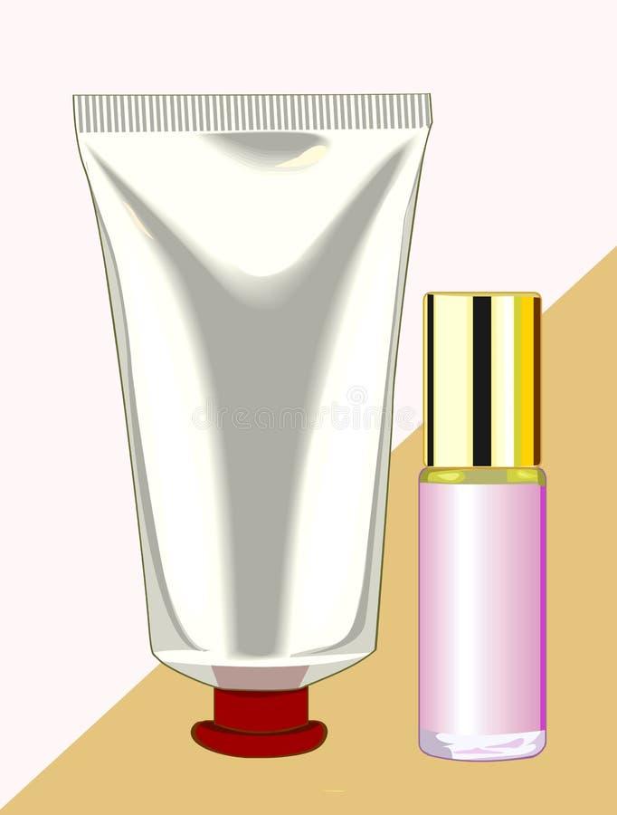 Crema illustrazione di stock