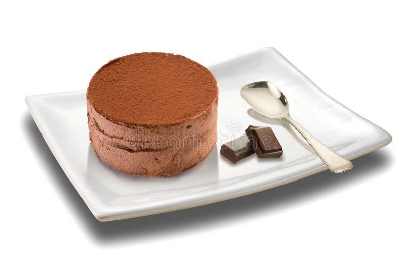 Crema batida con el chocolate foto de archivo libre de regalías