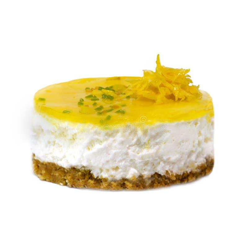 Crema batida cremosa del limón foto de archivo