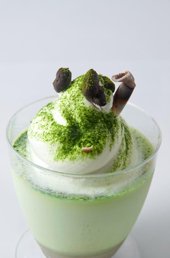 Crema batida del té verde