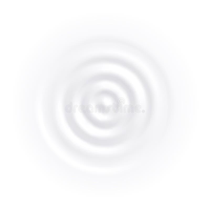 Crema blanca del yogur del vector de onda del círculo del chapoteo de la leche ilustración del vector