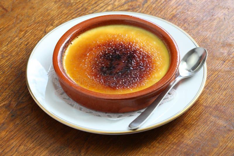 Crema catalana. Catalan cream, spanish dessert stock photos