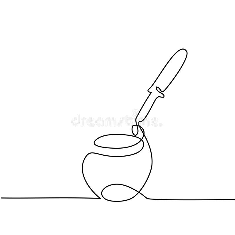 Crema cosmetica con la pipetta illustrazione di stock