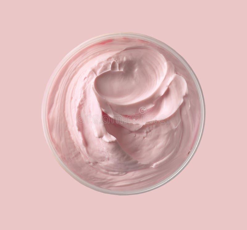 Crema cosmetica dentellare fotografia stock