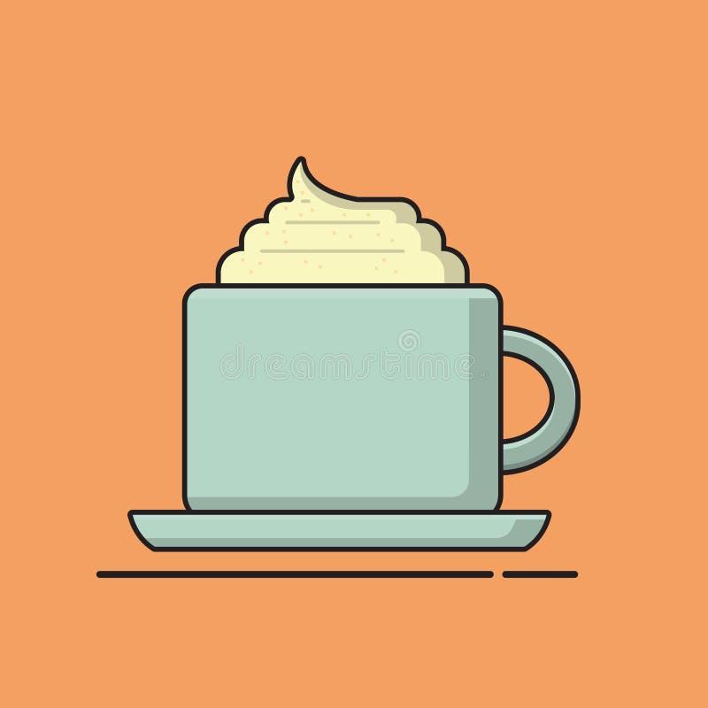 Crema de Cappucino en la taza ilustración del vector