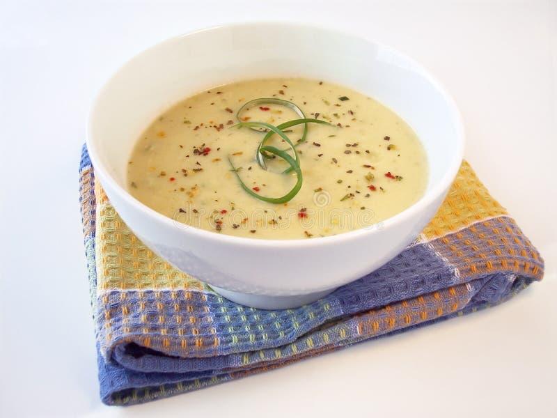Crema de la sopa 2 del escape imagenes de archivo