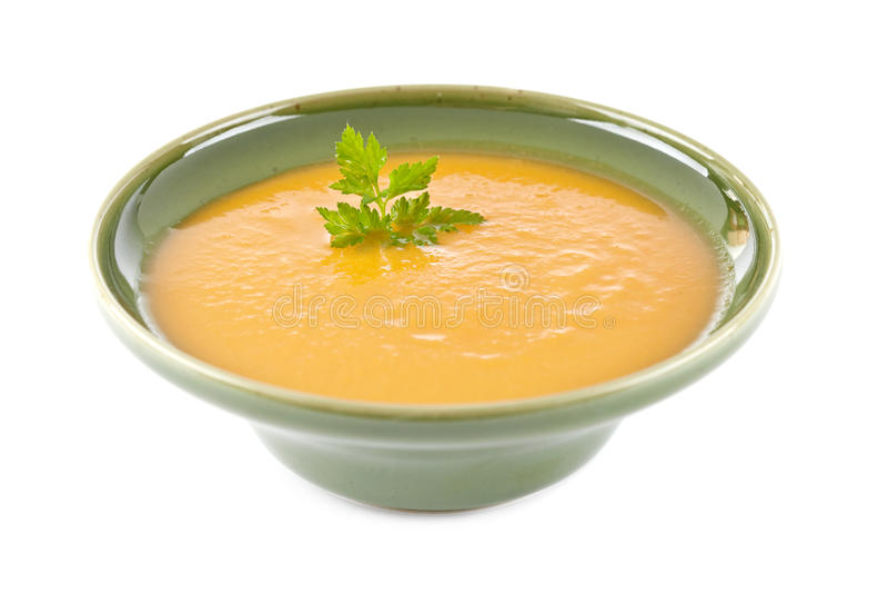 Crema de la sopa de la zanahoria fotografía de archivo