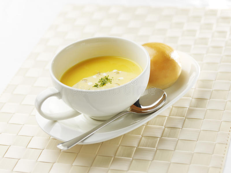 Crema de la sopa del maíz foto de archivo