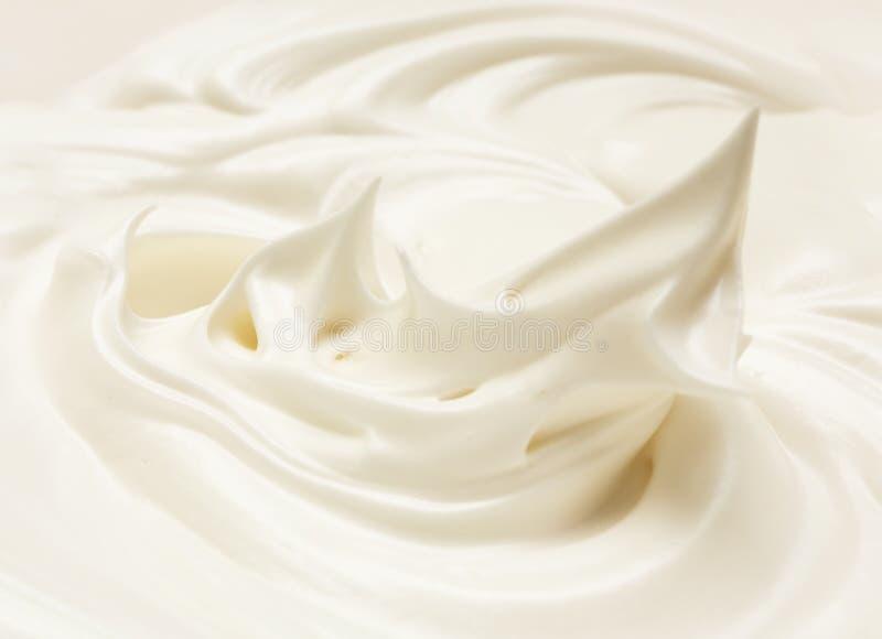 Crema del bianco d'uovo fotografie stock libere da diritti
