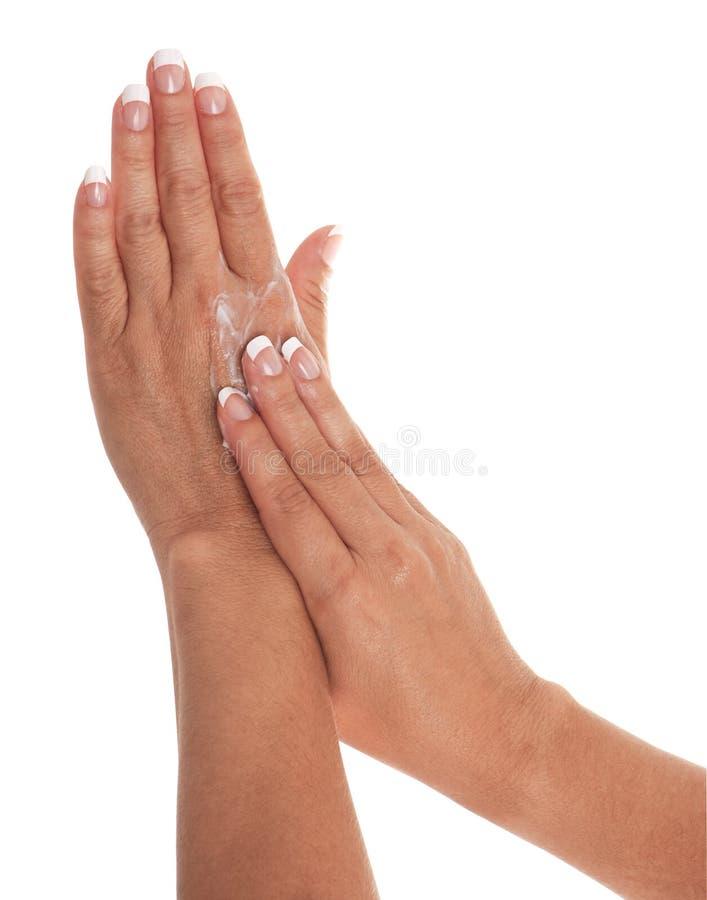 Crema della mano immagine stock libera da diritti