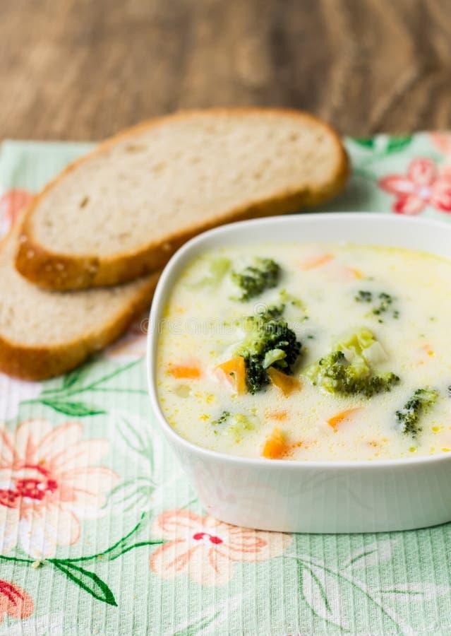 Crema della minestra del broccolo immagine stock