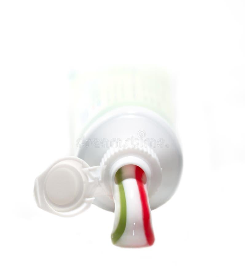 Crema dental y tubo imágenes de archivo libres de regalías