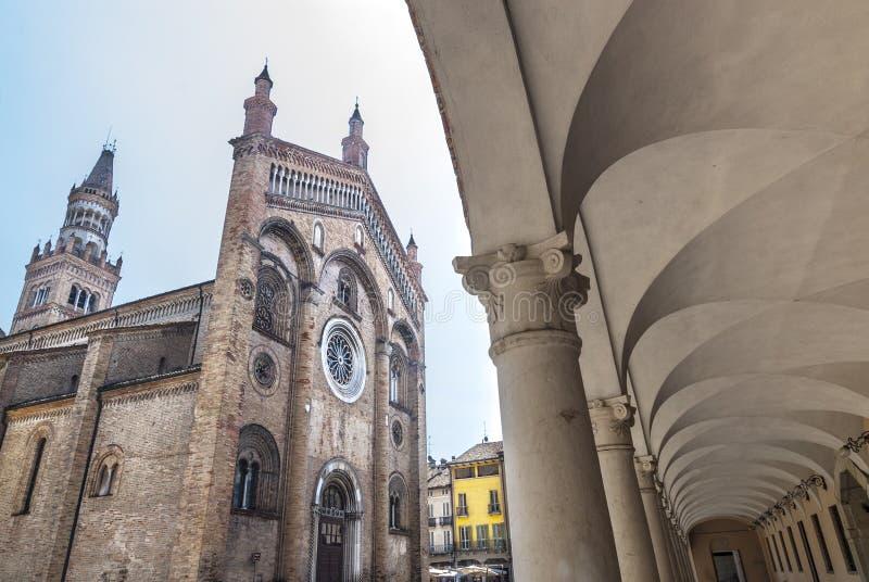 Crema (Italien): Duomo arkivbilder