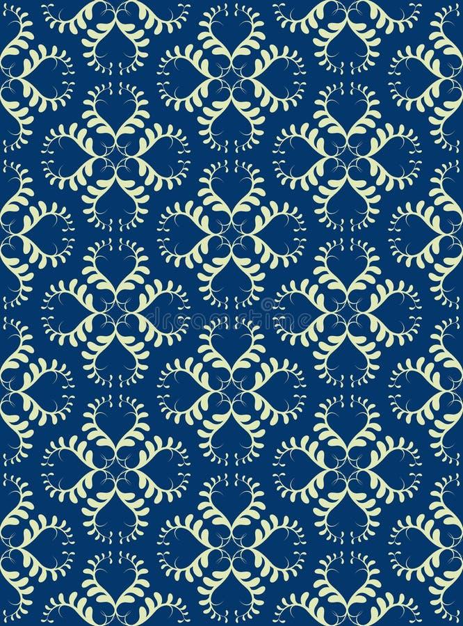 Crema Luscious senza giunte sull'azzurro reale illustrazione di stock