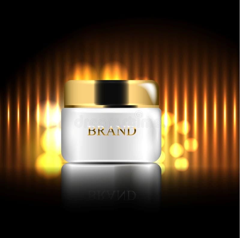 crema per cura di pelle illustrazione realistica di vettore 3d La progettazione dei prodotti cosmetici Presentazione di illustrazione vettoriale