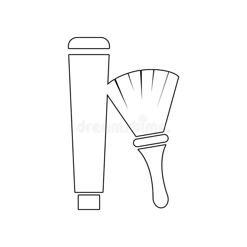 crema y cepillo para afeitar el icono de la espuma Elemento del peluquero para el concepto y el icono m?viles de los apps de la w ilustración del vector