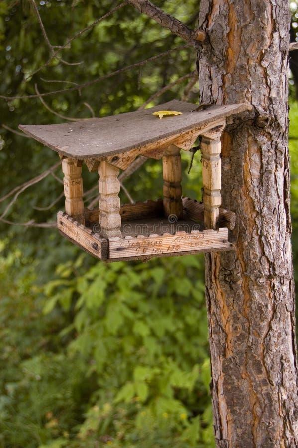 Cremagliera di alimentazione per gli uccelli e gli scoiattoli. fotografie stock