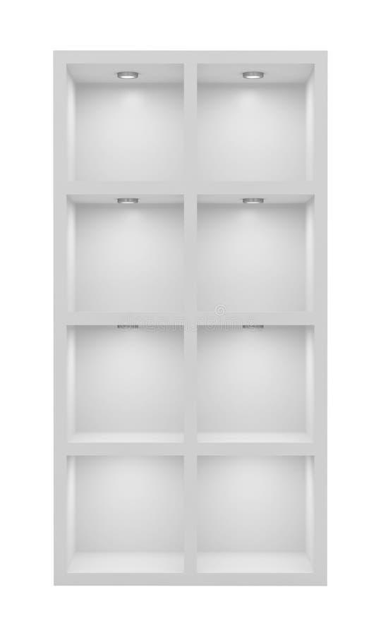 Cremalheira branca vazia ilustração stock