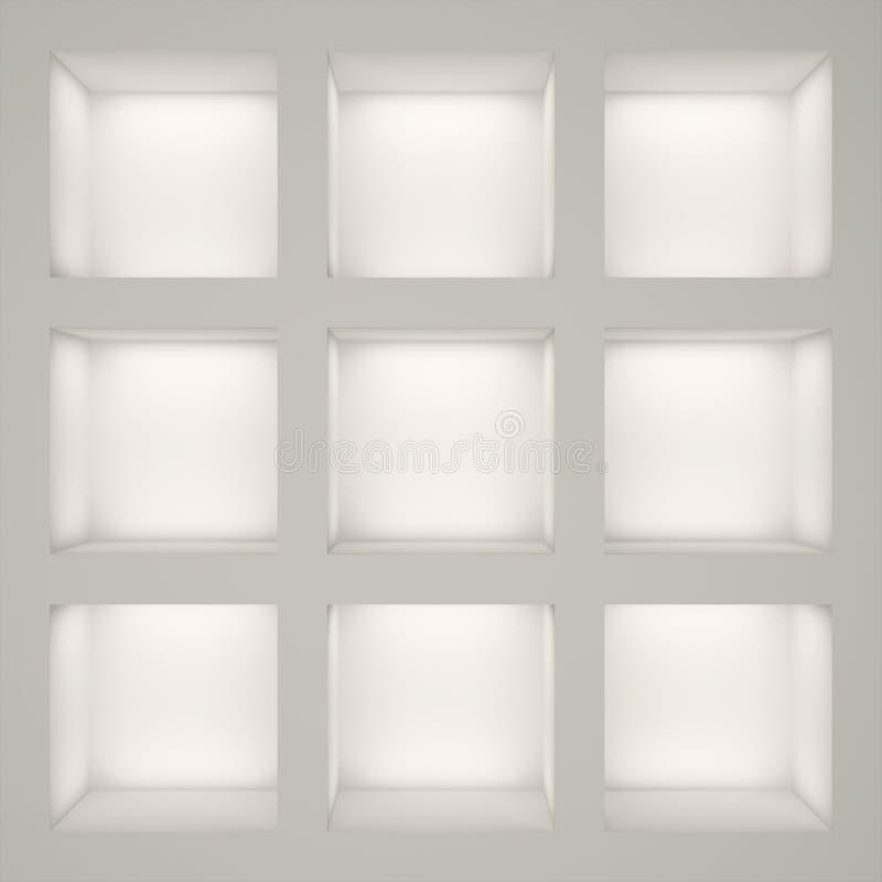 Cremalheira branca vazia ilustração do vetor