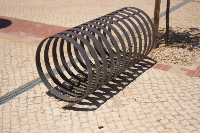 Cremalheira da bicicleta fotografia de stock