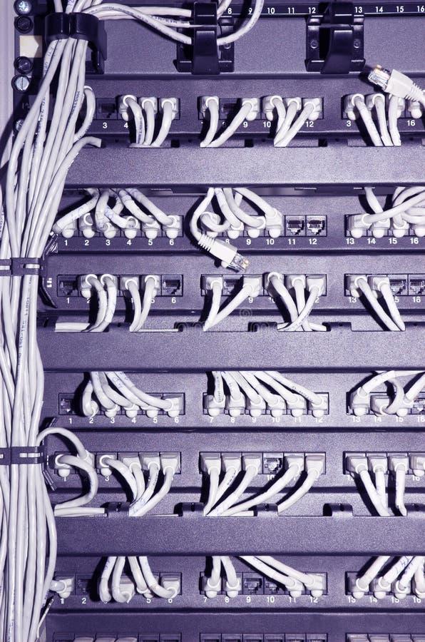 Cremalheira da rede com cabos #2 imagens de stock