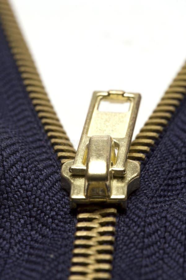 Cremallera azul fotografía de archivo libre de regalías