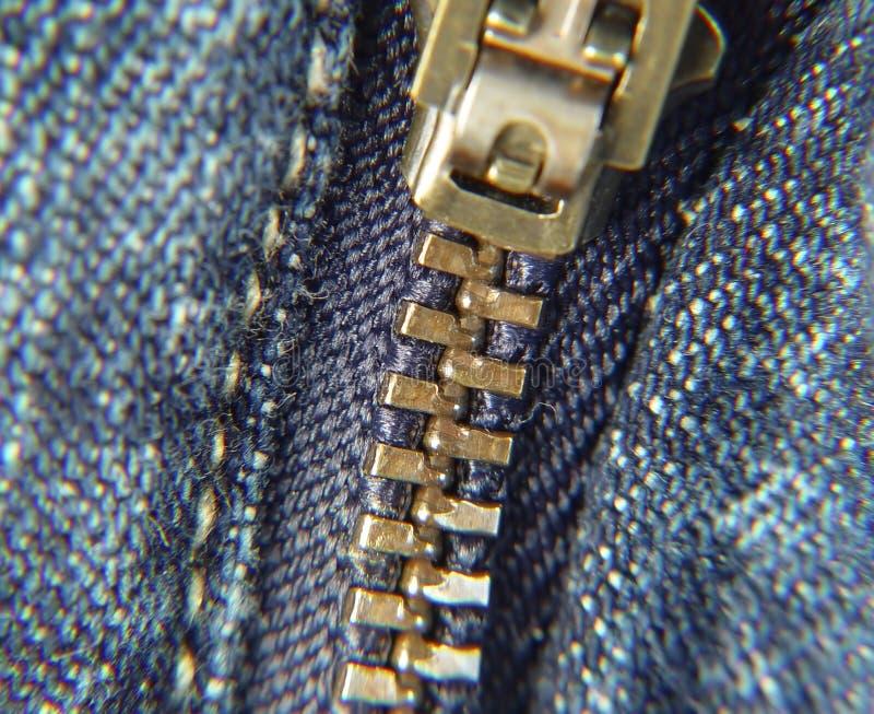 Cremallera de los pantalones imagen de archivo