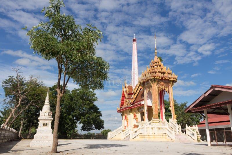 Crematório em Wat Kum Tae fotografia de stock royalty free