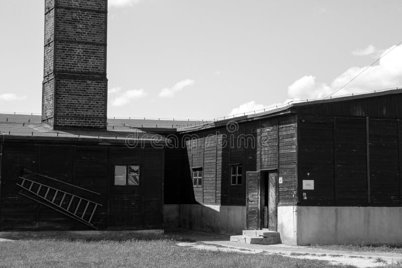 Crematório no campo de concentração de Majdanek fotografia de stock royalty free