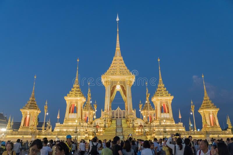 Crematório real Tailândia foto de stock