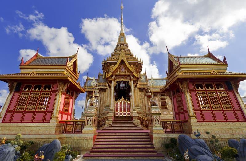 Crematório real tailandês em Banguecoque, Tailândia foto de stock royalty free