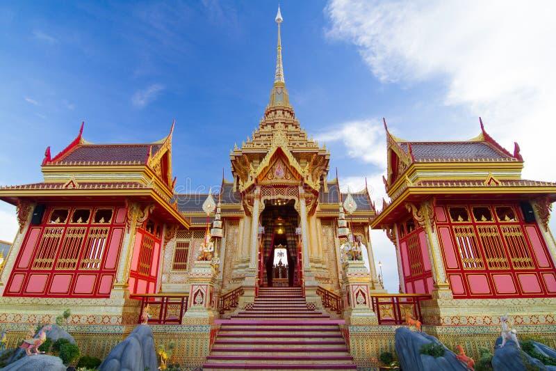 Crematório tailandês real foto de stock