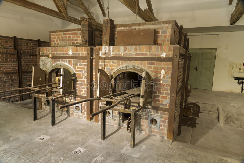 Cremation φούρνοι σήμερα Στρατόπεδο συγκέντρωσης Dachau στοκ εικόνα