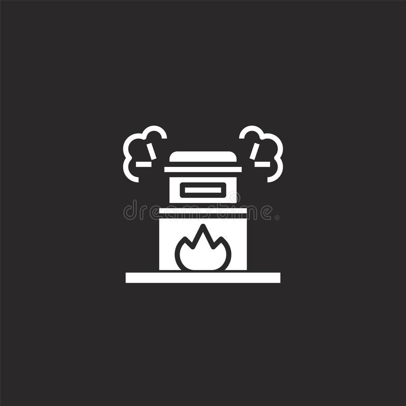 cremation icon. Filled cremation icon for website design and mobile, app development. cremation icon from filled funeral vector illustration