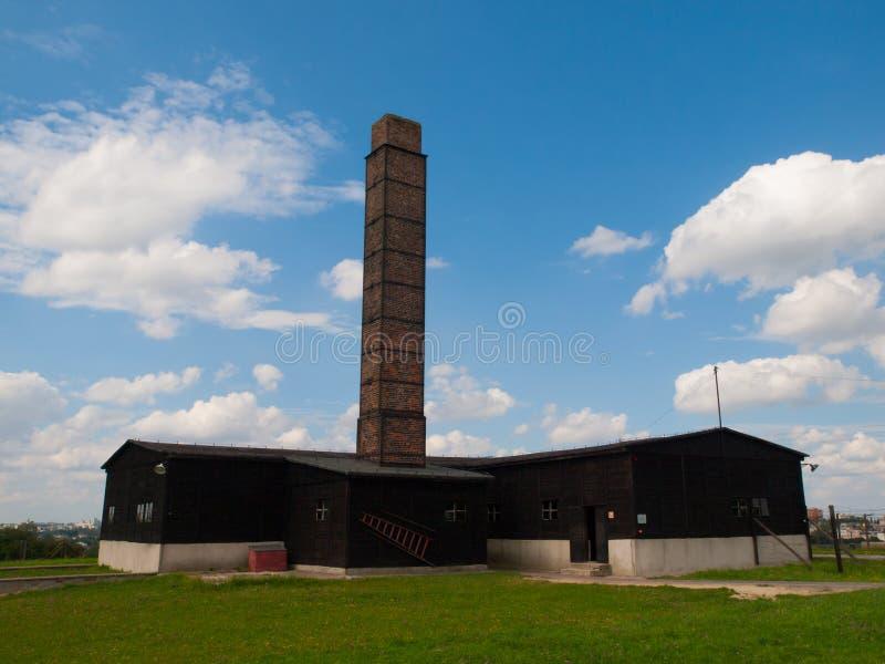 Crematorio de Majdanek imágenes de archivo libres de regalías