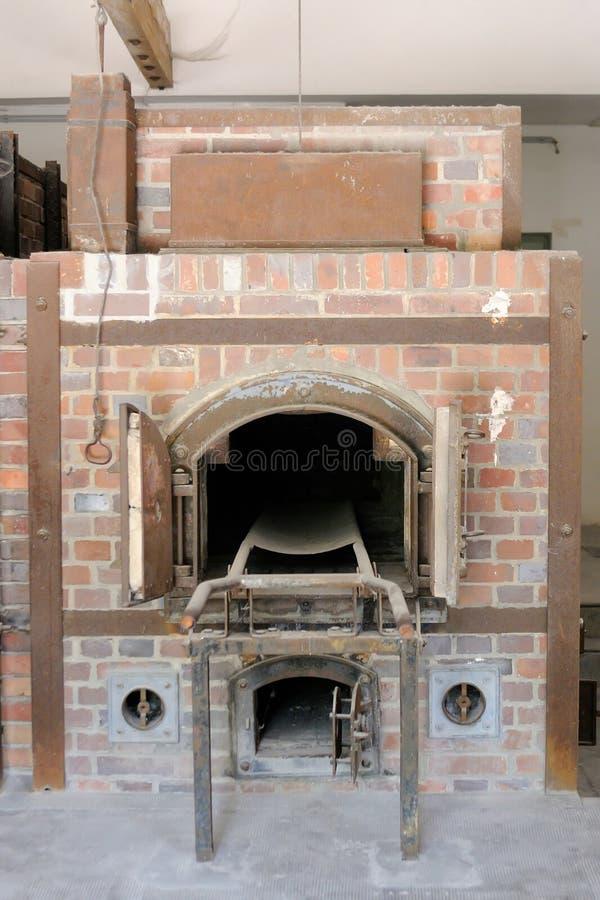 Crematorio di Dachau fotografia stock