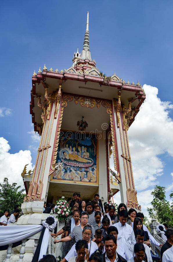 Crematorio Tailandia imagen de archivo libre de regalías