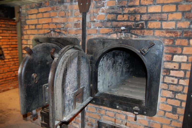 Crematorium. Detail of crematorium, death camp Osvetim I royalty free stock photos