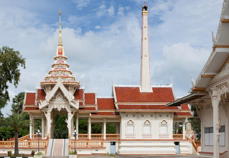 Crematorium. In the temple of Wat Chalong in Phuket; Thailand stock image