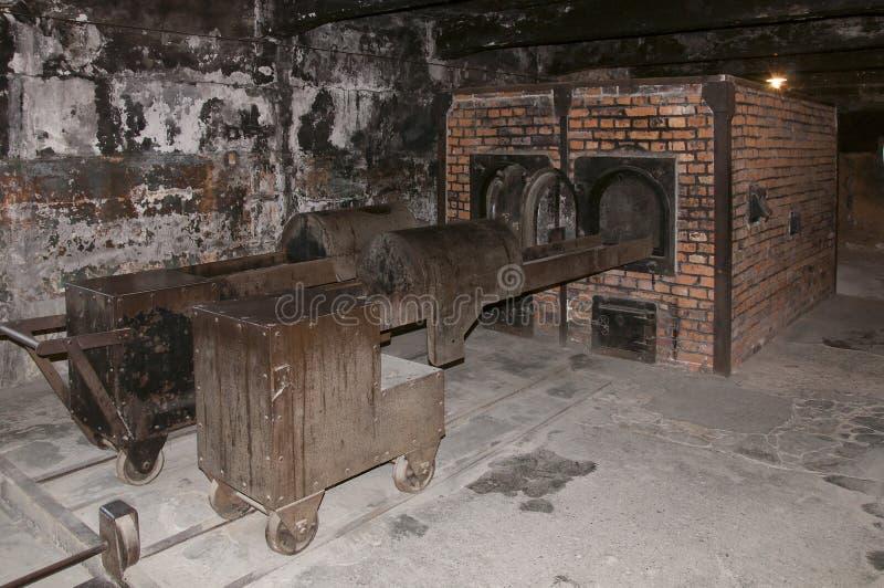 """Crematorium bij concentratiekamp van Auschwitz II†het """"Birkenau stock fotografie"""