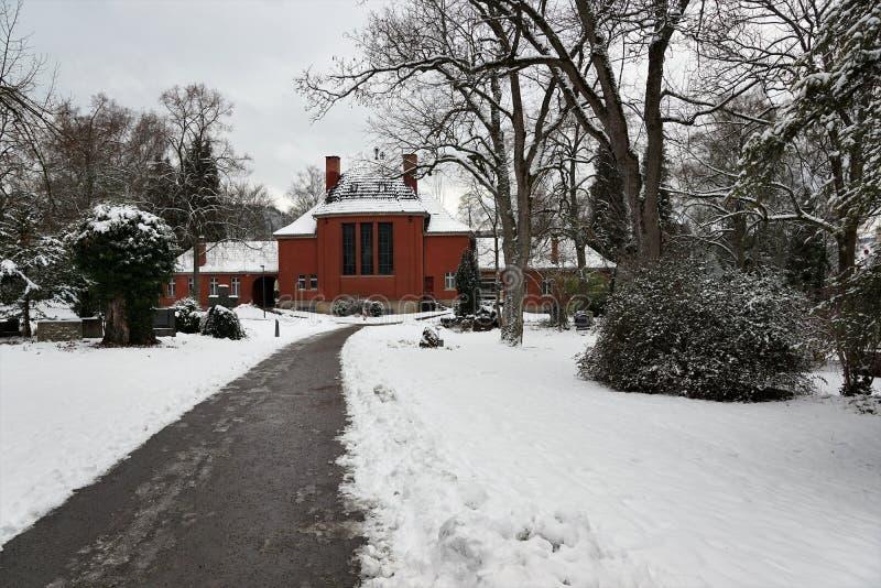 Crematorium budynek w tuttlingen obraz stock
