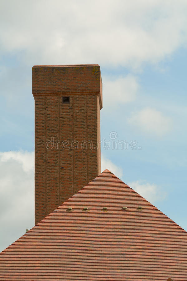 Crematorium budynku komin zdjęcie royalty free