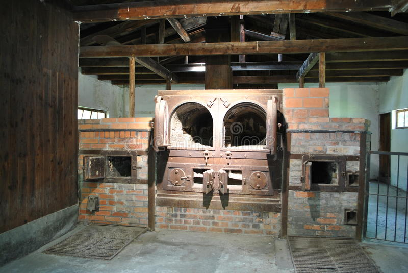 Crematorium in Dachau stock foto's
